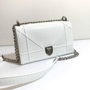 Dior Diorama Size Small White Leather Cross Body Bag - Tradesy