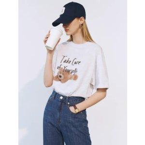 DUNST FOR WOMEN100%全棉!XS-XL码!泰迪熊T恤