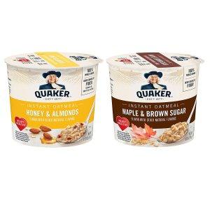 $11.02Quaker 桂格速溶早餐燕麦 蜂蜜杏仁/蜂糖口味混合装 12包