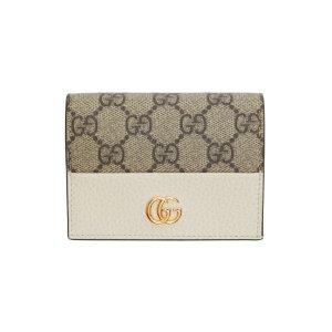 GucciBeige & Off-White GG Marmont卡包