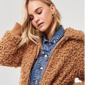 低至3折 泰迪熊夹克$29.99Forever 21 季末美衣热卖 蕾丝上衣$12.99