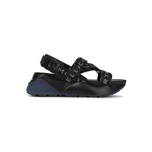 Stella McCartney黑色logo凉鞋