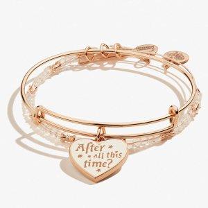 Alex and AniHARRY POTTER™ Always Charm Bangle Set of 2 Shiny Rose Gold