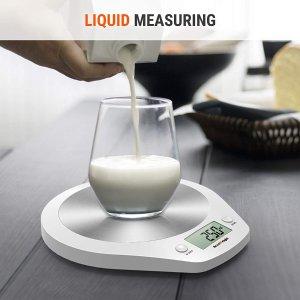 烹饪、烘焙好帮手 仅€12.99ACCUWEIGHT 厨房秤 高精度传感器 不锈钢台面 最大称重5kg