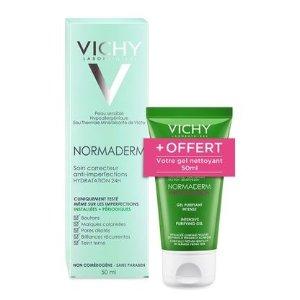 Vichy满€50-€5 送洁面凝露一支!24小时保湿霜