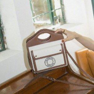 无门槛65折 €227收logo 链条包Burberry 黑五大促 史低价收Pocke口袋包、老花链条、格纹围巾