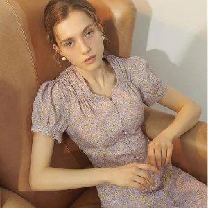 4折起 £46收经典小黑裙W Concept 精选春夏美裙 必备韩风碎花裙、百褶裙参与