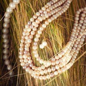 Effy满$50减$10淡水珍珠纯银项链 7-8MM