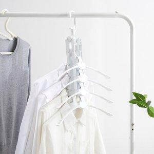 【直营】麦宝隆衣服收纳衣撑省空间魔术衣架衣挂家无痕折叠晾衣架