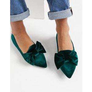 ASOS 蝴蝶结芭蕾鞋