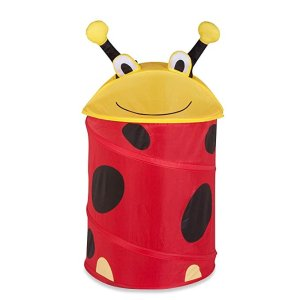 Honey-Can-DoHMP-02057 medium kid's pop-up hamper - lady bug