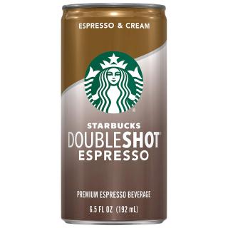 $13.15 一罐仅$1.09星巴克 Doubleshot Espresso + Cream 易拉罐烘焙咖啡 12罐