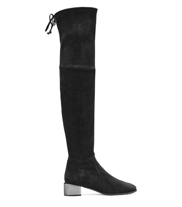 新款透明跟过膝靴