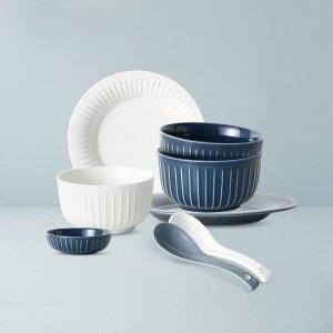 北欧风格条纹餐具套装