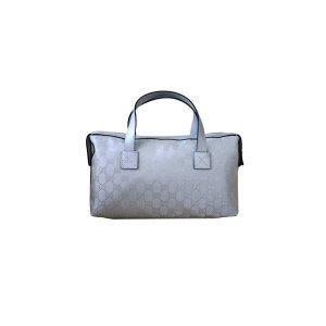 GucciSilver Gg Canvas Boston Bag Bowling Bag | Bluefly.Com
