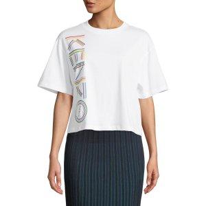 dd19e58b1e9 ... Up to extra 33% off Kenzo Select Clothing Sale. Free shipping.  KenzoBoxy Crewneck Logo Tee