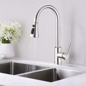 $78(原价$138)可拔出式厨房水龙头 三种喷洒方式 洗碗洗菜不怕溅