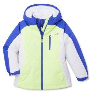 $14 码全4-12岁Swiss Tech 女童三合一实用外套,2色可选