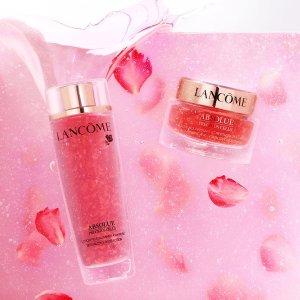 送11件套 (价值$490)Lancome 玫瑰护肤 花瓣水、精华液 肉眼可见的玫瑰花瓣