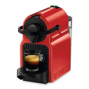 Nespresso两个编程按钮 0.7升水箱Inissia 胶囊咖啡机 红色
