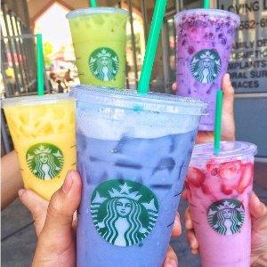 所有星冰乐半价Starbucks HAPPY HOUR活动开始啦 呼朋唤友走起来
