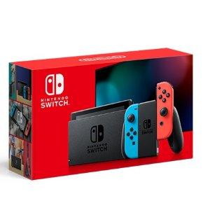 $299Nintendo Switch 全新续航增强版 32GB 红蓝/灰 双色可选