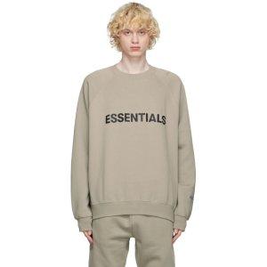Essentials如断货请多刷!随时补货燕麦色logo卫衣
