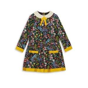 Gucci丝质印花连身裙