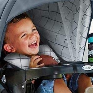 $299.97包邮2件套 (原价$349.97)Graco 三轮推车+婴儿摇篮 一键收车 开启方便出行