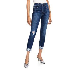 Joe's JeansHigh-Rise Skinny Cropped Jeans w/ Cuffs