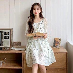 Front Ruched Chiffon Babydoll Dress