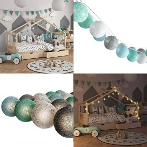 3M 20 LED Cotton Ball Light String Outdoor Garland Light Holiday Wedding Christmas Party Bedroom Fairy String Lights Decoration-in Lighting Strings from Lights & Lighting on Aliexpress.com   Alibaba Group