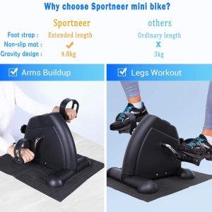 折后€39.99 瘦腿瘦手臂Sportneer 迷你踏板健身自行车热卖 上班学习、健身两不误