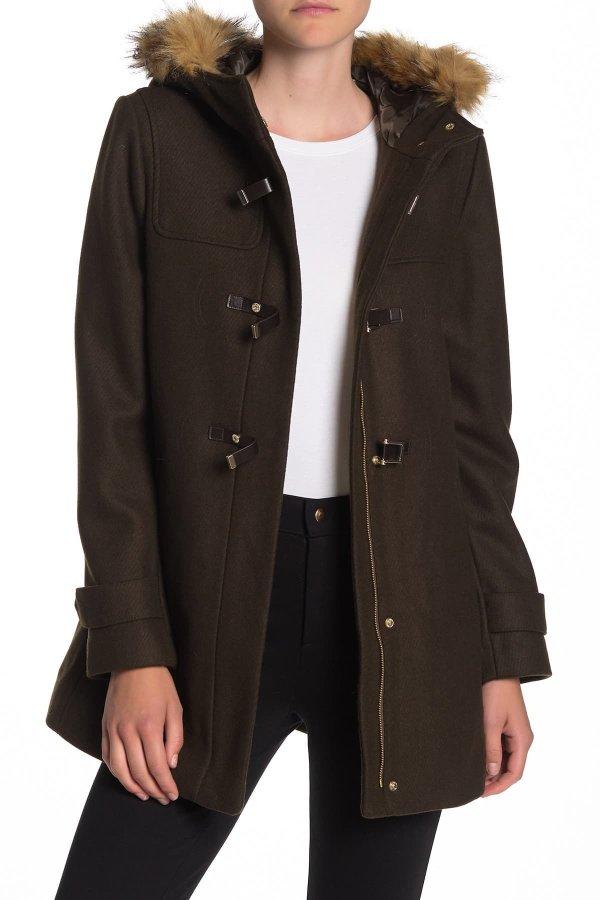 Wool Blend Faux Fur 外套