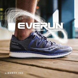 $100 (原价$215.99)索康尼 Saucony Liberty ISO 专业跑鞋  高性能强化稳定性