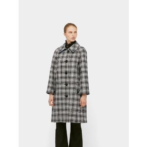 Burberry100%羊毛!仅剩38码格纹羊毛大衣