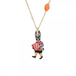 Les NereidesAccordion Player Rabbit Short Necklace - N2 - Fanfare Collection