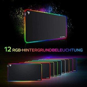 VicTsing12种灯光模式大尺寸RGB 游戏鼠标垫