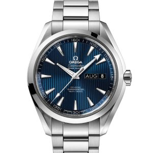 Extra $600 OffOMEGA Aqua Terra Co-Axial Annual Calendar Blue Dial Men's Watch 231.10.43.22.03.002