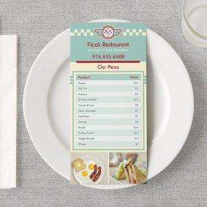Vistaprint个性定制餐馆菜单 100张