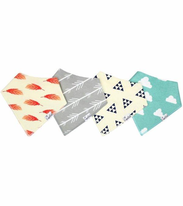 宝宝口水巾4件装
