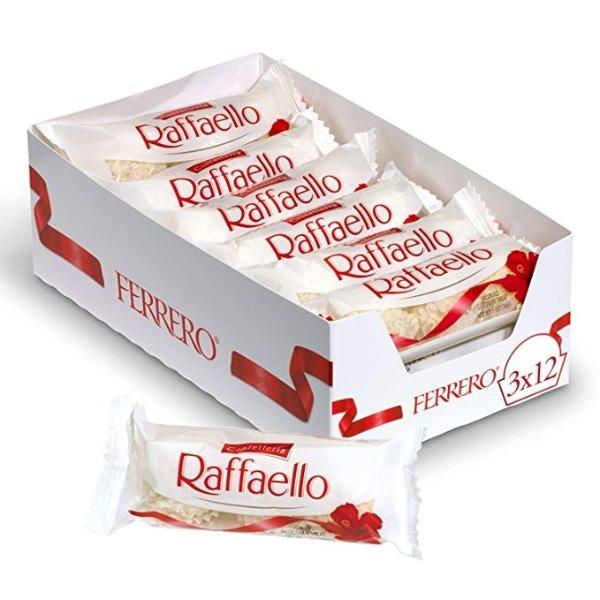 白球拉斐尔椰蓉巧克力 3个装 12条