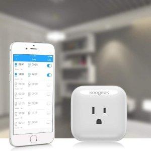 $27.59(原价$36.99)独家:Koogeek  Wi-Fi升级版智能插座 兼容Apple HomeKit、Alexa以及Google Assistant