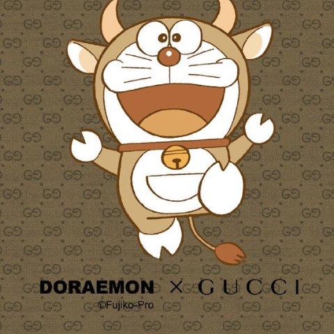 Gucci x 哆啦A梦 系列上新 入牛气满满蓝胖子