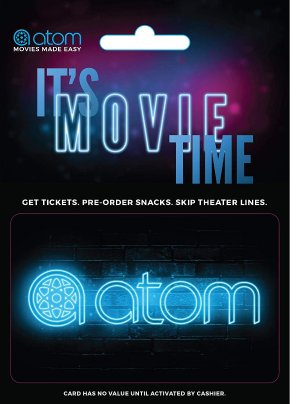 $40Atom Tickets $50 Gift Card