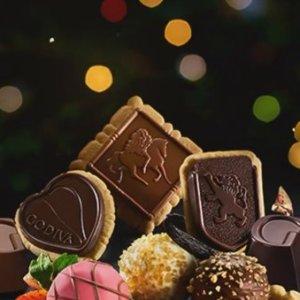 Godiva Assorted Chocolate Biscuit Gift Box, 20 pc., Set of 2
