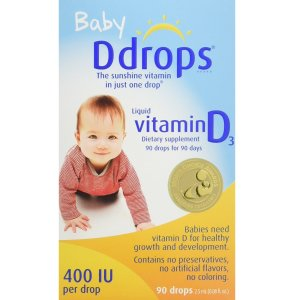 $14.26Ddrops Baby 400 IU, Vitamin D, 90 Drops @ Amazon