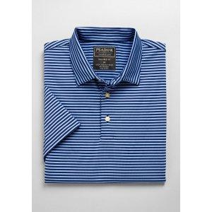 Traveler Collection Tailored Fit Short-Sleeve Stripe Polo Shirt - Traveler Polo Shirts | Jos A Bank