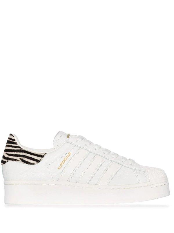 斑马纹小白鞋