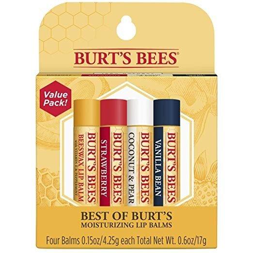 Burt's Bees 100%纯天然滋润护唇膏 4支水果味混合装
